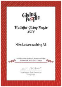 vi stödjer Giving People